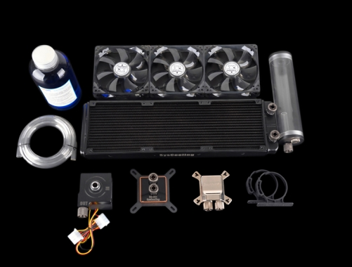 Syscooling high performance cooling system computer cpu and gpu water cooling kit